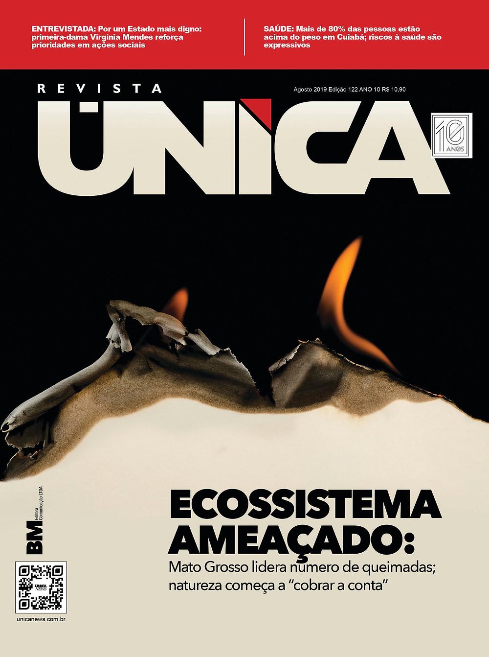 Capa da edição de agosto da Revista Única