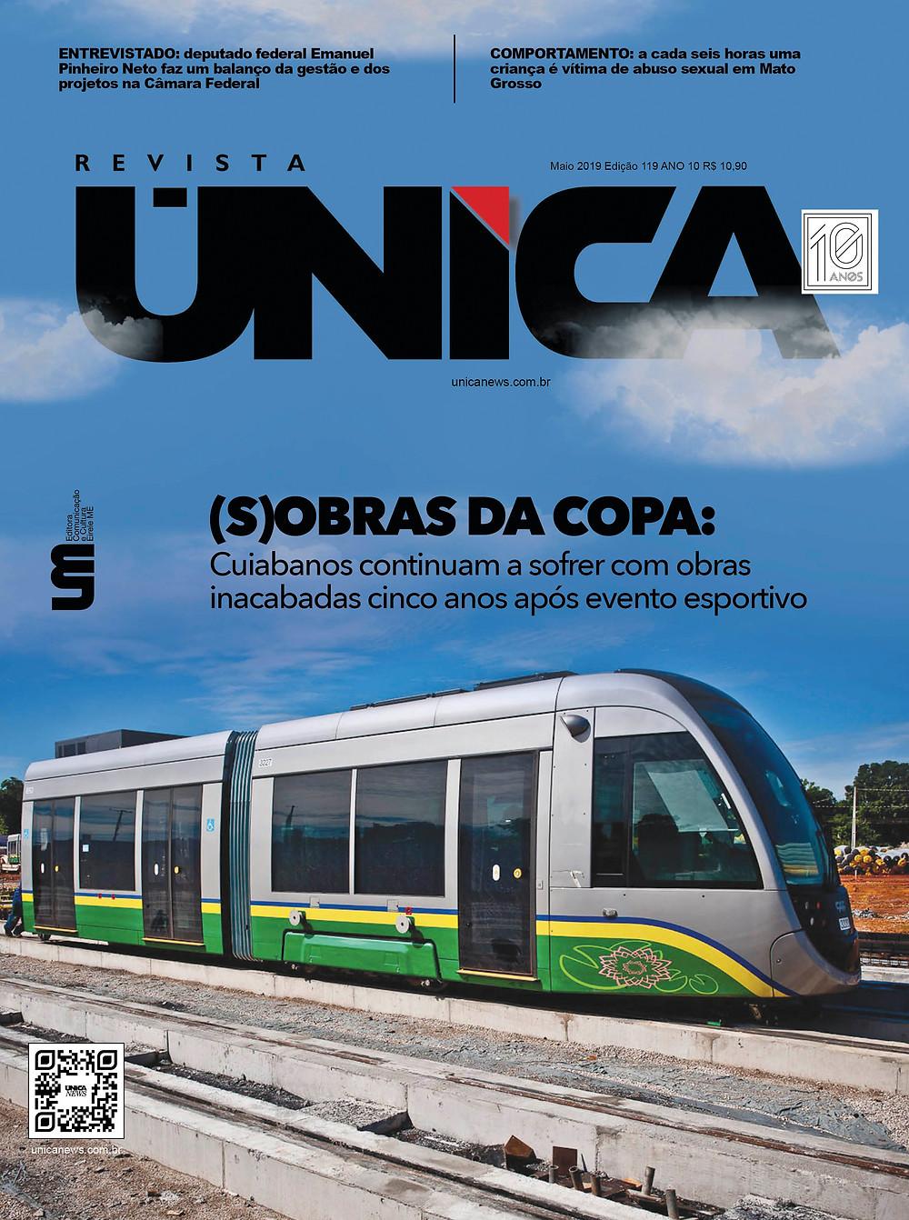 Capa Revista Única Obras da Copa