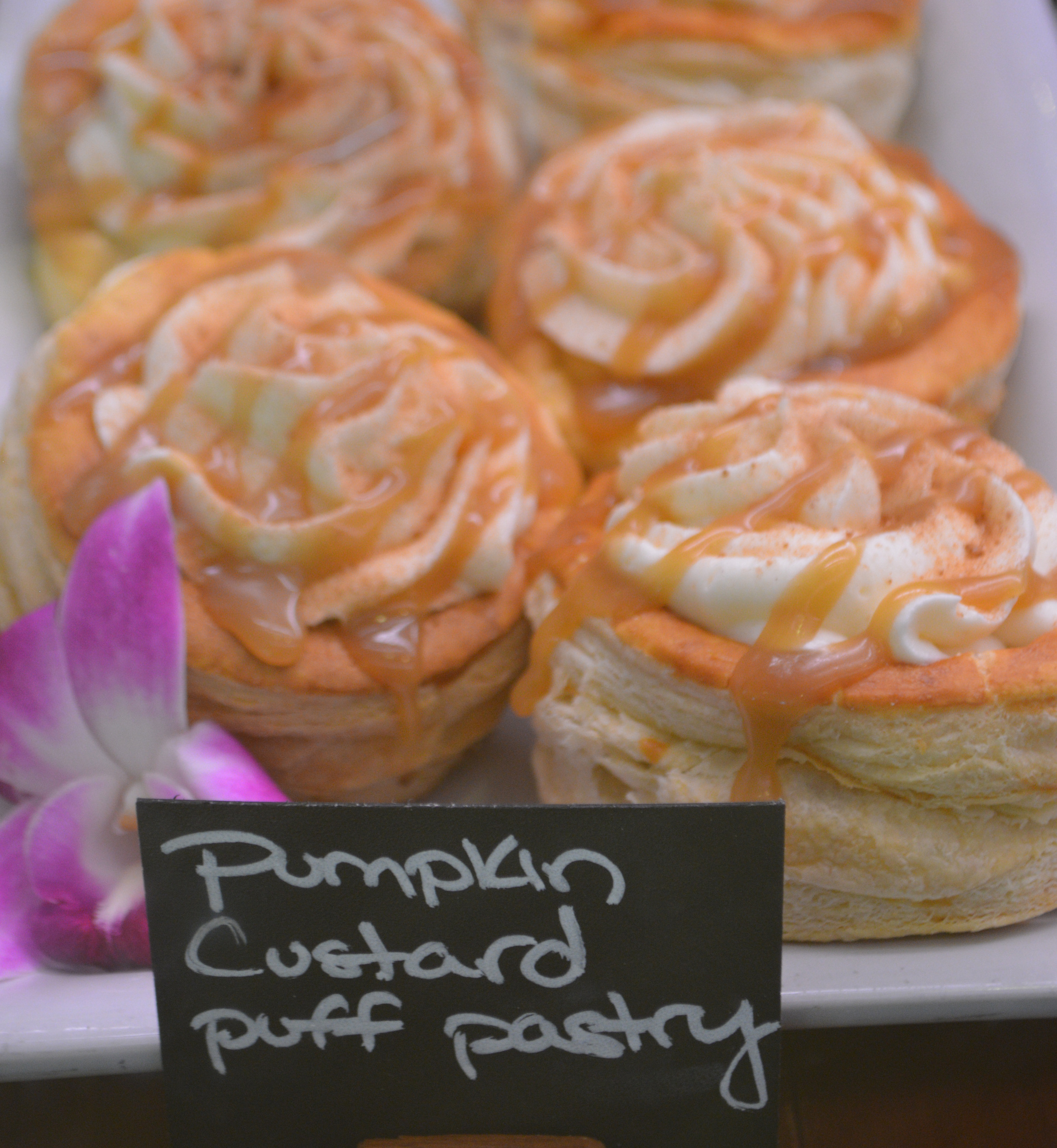 Pumpkin Custard Puff Pastry