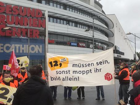 Demo - 12 Euro Stundenlohn für Reinigungskräfte