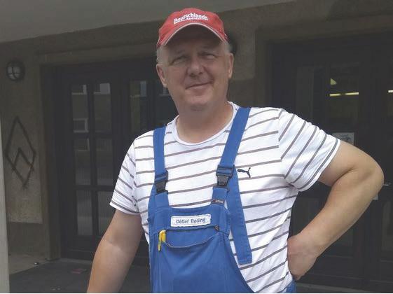 Detlef Bading ist Hausmeister an der Fritz-Karsen-Schule in Berlin-Neukölln