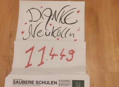 """21.000 Unterschriften für """"Saubere Schulen"""""""