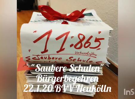 """Historisch! Fast 12.000 Unterschriften für """"Saubere Schulen"""" in Neukölln"""