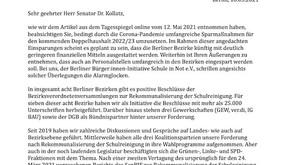 Offener Brief an Finanzsenator Kollatz