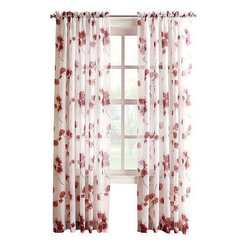 CORAL KIKI Viole Print Window Curtain