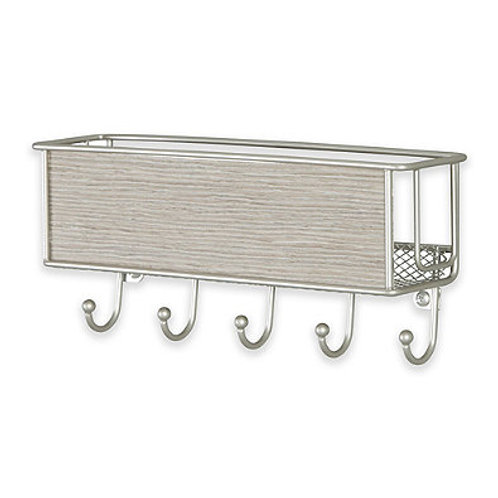 INTER DESIGN Wall Mount Key Rack and Mail Basket