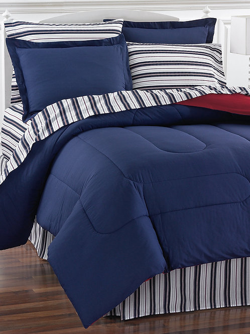 NAVY YARD 8-Pcs Bedding Set