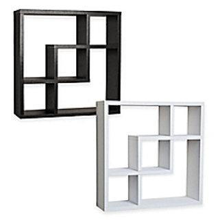DANYA B Squares Laminated Wall Shelf