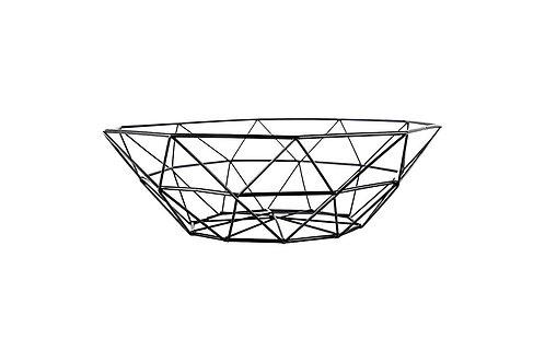 Metal Wire Bowl - Black Finish