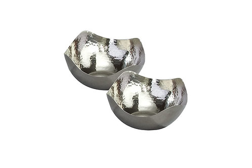 Contemporary Hammered Display Bowl - Set of 2