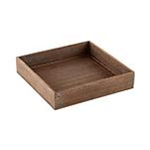 Feather Grain Square Tray