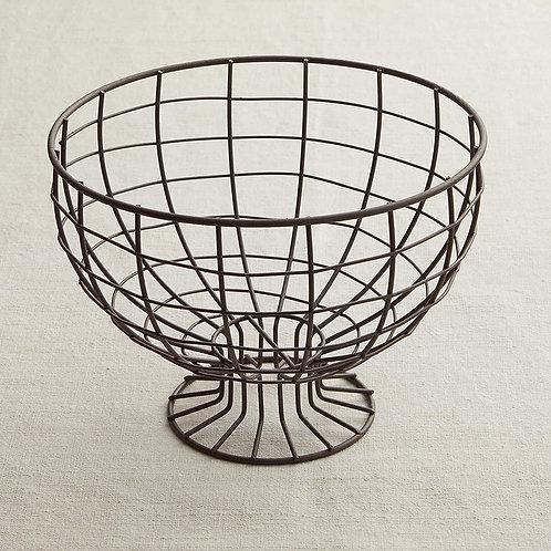 Metal Wire Pedestal Bowl