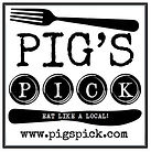 Pig's pick logo, eat like a local
