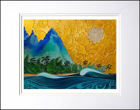 "ino' Kauai, 8""x10"" Paper Print in Double White Mat."