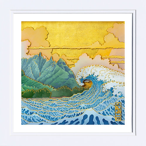 """Malolo I, Preorder 10""""x10"""" Paper Print inDouble White Mat"""