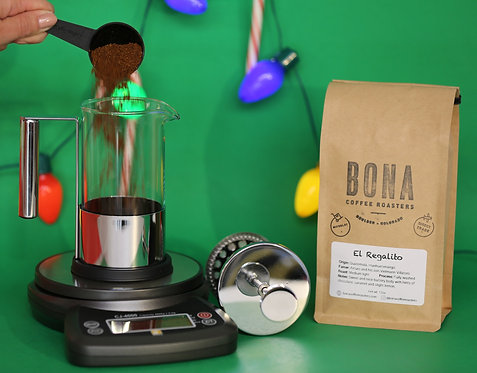 French Press + Scale (FREE El Regalito)