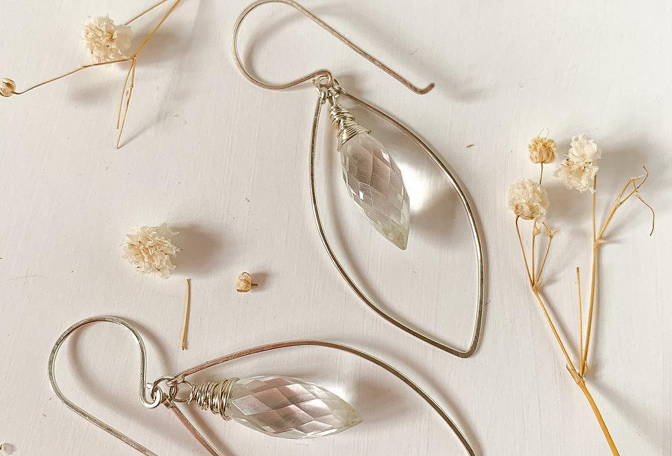 Quartz Prism Drop Earrings
