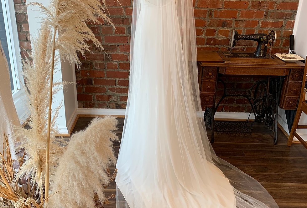 Full Length Plain Veil