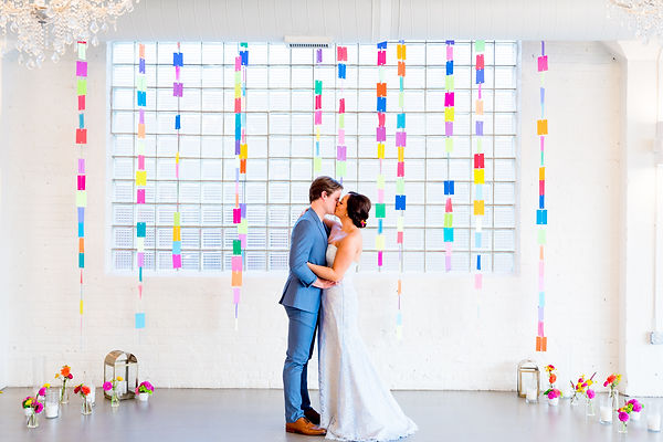 Colorful Chicago wedding with handmade d