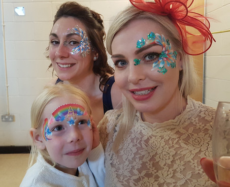 Glitter and face painting are the perfect fun addition to your special day!