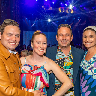Cory and Catherine Baum with Downtown Vision Executive Director Jake Gordon and his wife, 2019