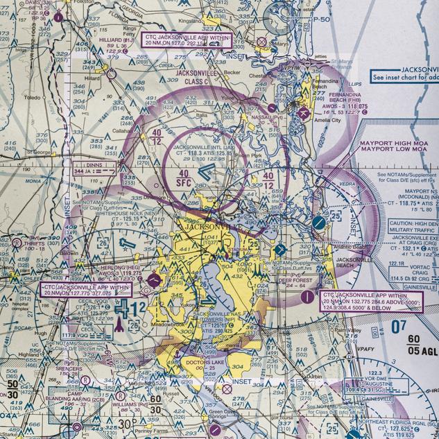 Cecil Field Flight Map