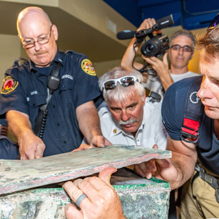 Unearthing the WWI time capsule, 100th Anniversary of Memorial Park - 2