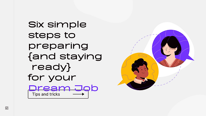 Six Steps to Preparing (and staying ready) For Your Dream Job