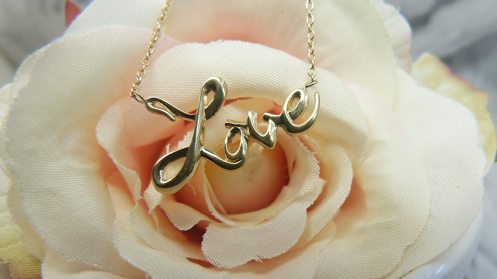 9ct Yellow Gold Love Necklace