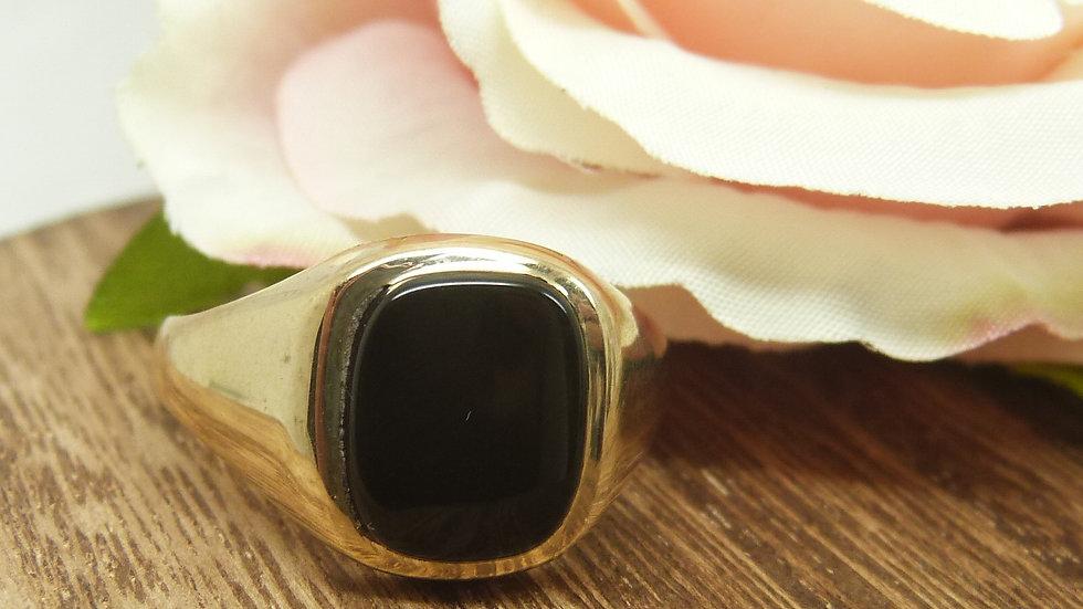 9ct Yellow Gold Onyx Signet Ring