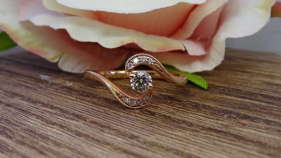 18ct Rose Gold Diamond Crossover