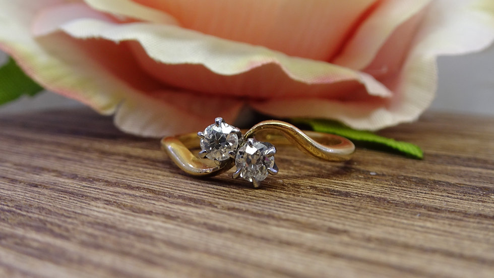 Previously Loved - 18ct Yellow Gold Diamond Crossover