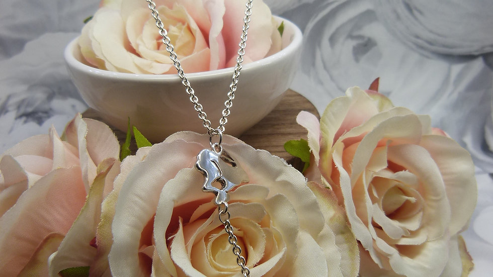 Silver Long Wildlife Necklace