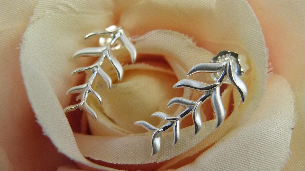 Silver Fishbone Earrings