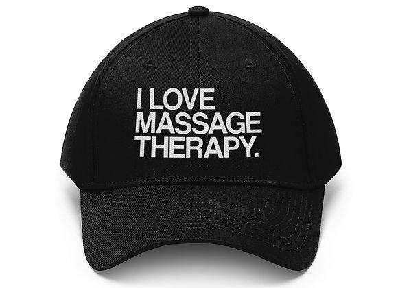 I love massage therapy Twill Hat
