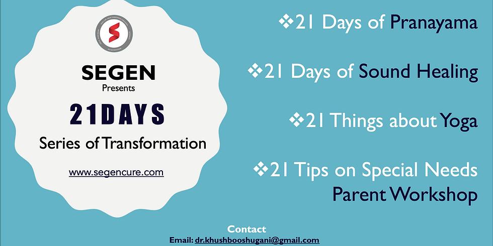 Webinar: 21 Days' Series of Transformation in 2021