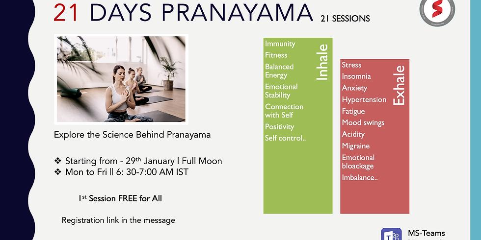 Pranyama: Full Moon Day