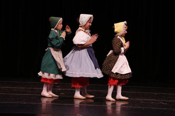 Three Old Fashion Dolls