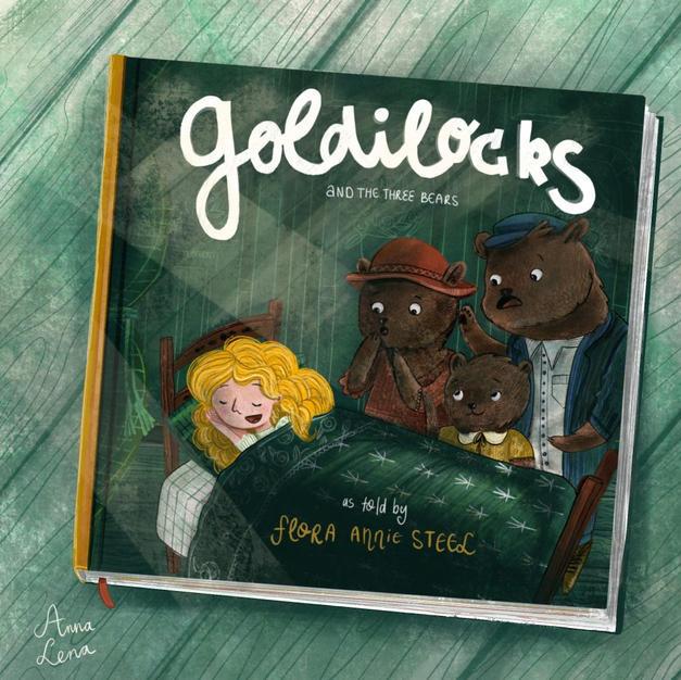 Goudlokje en de beren - Cover