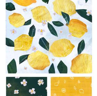 Lemon repeat pattern