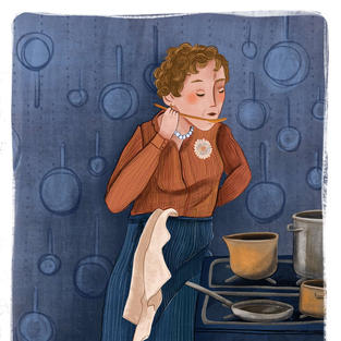 Portret van Julia Child
