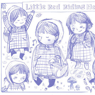 Character sketches - Little Red Riding Hood