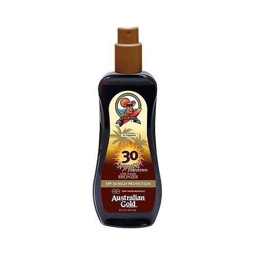 Protection solaire 30 gel - agents bronzants instantanés