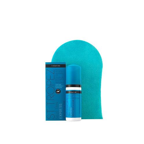 Autobronzant Express mini kit mousse 50ml + gant