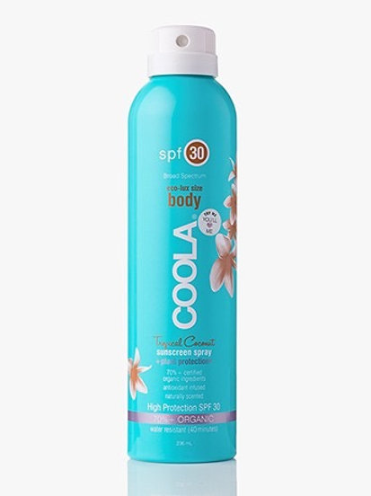 Spray solaire corps SPF 30 noix de coco