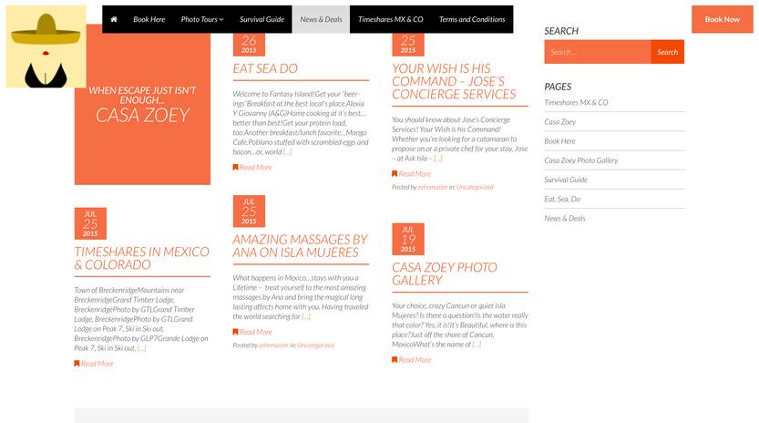 Casa Zoey Website 3