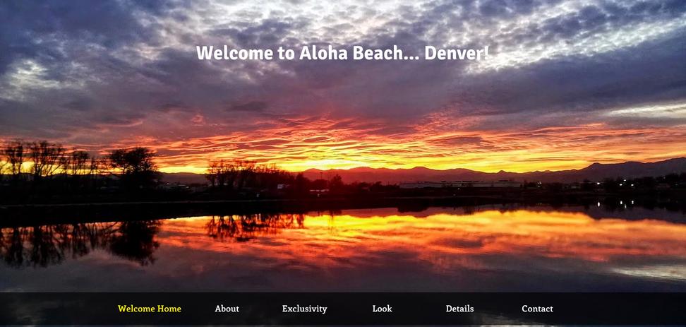 Aloha Beach Website 1