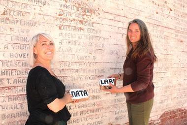 Natalie Finegold Lopez (Historical Restoration Expert)  & Michelle Nayland (Lettering Expert)