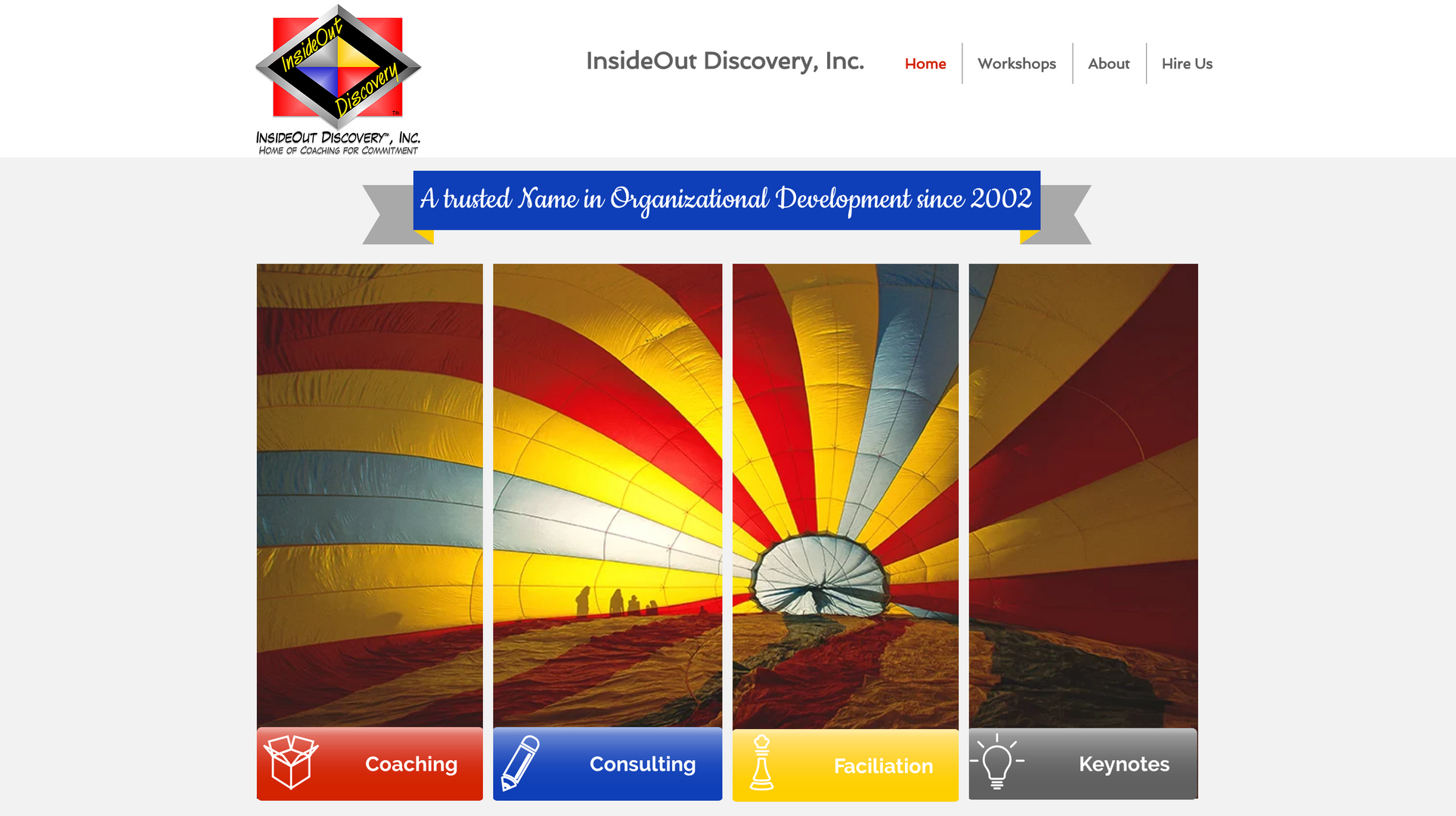 InsideOut Discovery Website