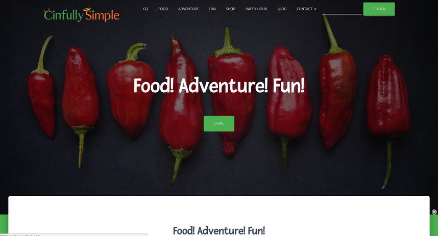 Cinfully Simple Website 1